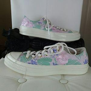 Converse lavender floral print sneakers